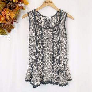 CAbi  |  Sleeveless Peplum Sweater Vest, XS